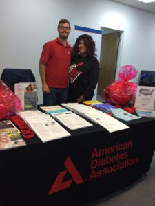 Brandon Newsome and Marianne Collins from Hampton Roads American Diabetes Association