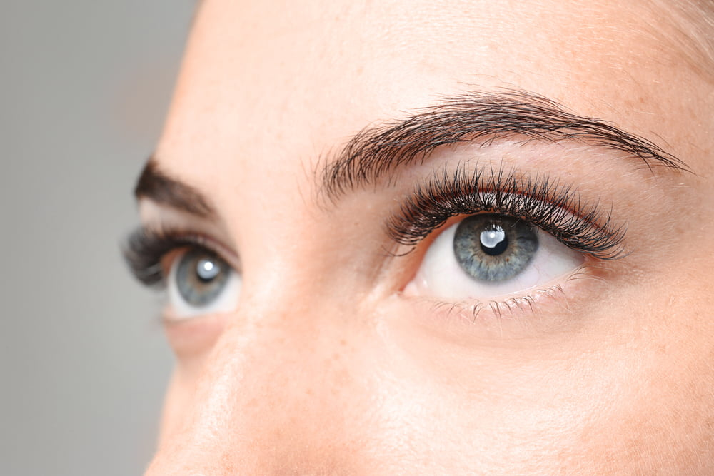 woman's eyes close up