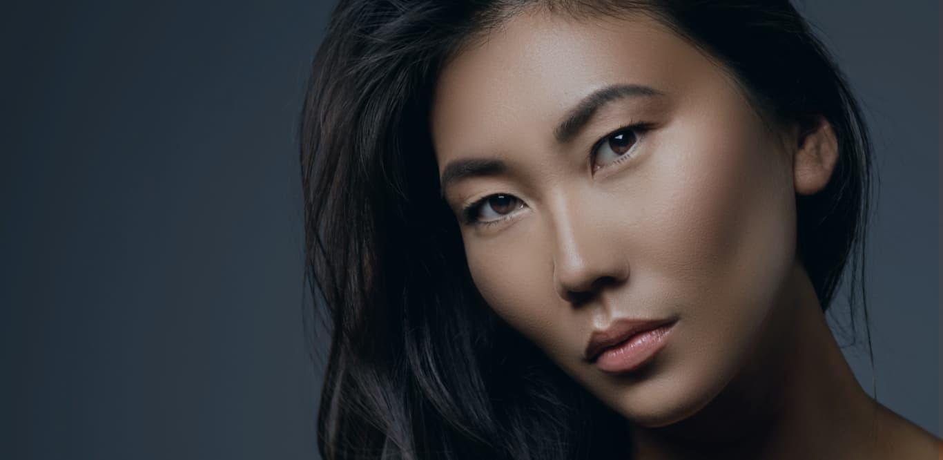 woman with high cheekbones