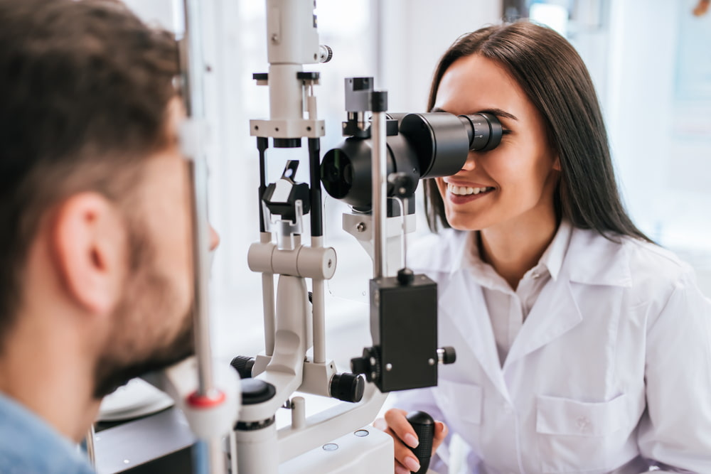 eye exam for young male