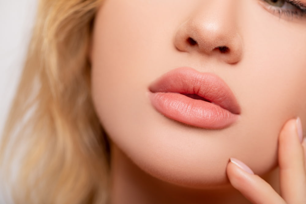 full plumps lips after augmentation