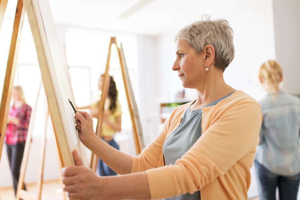 senior painting as a hobby